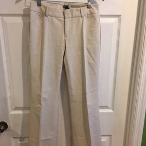 Gap Strech Ivory Dress Pants Sz L EUC